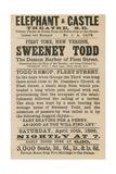 Advert for Sweeney Todd the Demon Barber of Fleet Street Giclee Print