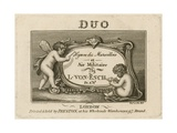 Title Plate for Hymn Des Marscillois Et Air Militaire Giclee Print by Francesco Bartolozzi