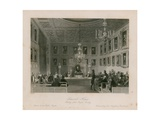 Somerset House, Meeting of the Royal Society Giclee Print by Frederick William Fairholt