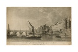 A View of Westminster Bridge with Parts Adjacent as in the Year 1760 Giclee Print by Samuel Scott