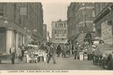 London Life, a Street Market in Soho, the Latin Quarter Photographic Print
