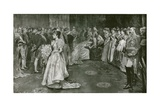 Her Majesty's Drawing Room at Buckingham Palace, the Moment of Presentation Giclee Print by William Hatherell