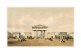 Entrance Portico of Euston Grove Station, London Giclee Print by John Cooke Bourne