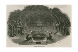 Fireworks Temple at Royal Vauxhall Gardens, London Giclee Print by Ebenezer Landells