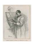 Sir Sydney Waterlow, at Work as a Compositor in Paris Giclee Print by Amedee Forestier