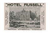 Hotel Russell, Russell Square, London Giclee Print by Harold Oakley