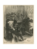 A Communist Club Room Near Leicester Square Giclee Print by Felix Elie Regamey