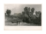 On the Thames Giclee Print by Joseph Mallord William Turner