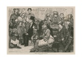 Madame Tussaud and Sons: Holiday Time at a Waxwork Exhibition Giclee Print by James Macbeth