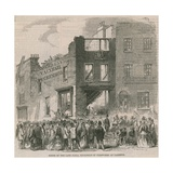 Scene of the Late Fatal Explosion of Fireworks at Lambeth Giclee Print