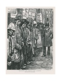 Recruiting the Sandwich Men Giclee Print by Charles Paul Renouard