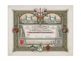 Tower Bridge, London, Invitation to Laying of the Memorial Stone, 21 June 1886 Giclee Print