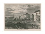 Kennington Common and Church in 1830 Giclee Print by William Henry Prior