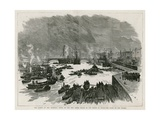 Laying of the Memorial Stone of the New Tower Bridge by the Prince of Wales Giclee Print