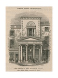 New Front of the Wesleyan Chapel, Great Queen Street, Lincoln's Inn Fields Giclee Print by Ebenezer Landells