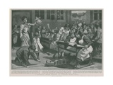 A Children's Happy Evening in a London Board School Giclee Print by Clement Flower