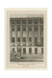 The Town House of Actor David Garrick Giclee Print by James Storer