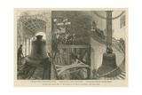 Raising the Great Bell in the Tower of St Paul's Cathedral Giclee Print