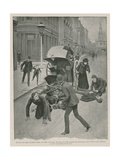 Carriage Accident Giclee Print by Amedee Forestier