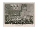 The Court of King's Bench Giclee Print by Edward Pugh