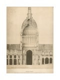 Old St Paul's Cathedral; a Section Showing the Choir with Sir Christopher Wren's Suggestion for a… Giclee Print