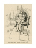 The West End Hospital for Paralysis and Epilepsy, Welbeck Street, London: Epileptic Boy and… Giclee Print by Amedee Forestier