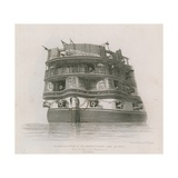 His Majesty's Ship Asia Giclee Print by Edward William Cooke
