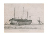 The Hastings Lying in Ordinary in the Medway Giclee Print by Edward William Cooke