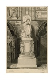 Memorial to Addison, Westminster Abbey, London Giclee Print by Thomas Uwins