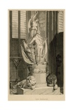 Memorial to Captain Montague, Westminster Abbey, London Giclee Print by Thomas Uwins