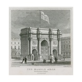 The Marble Arch, Buckingham Palace Giclee Print by Thomas Hosmer Shepherd