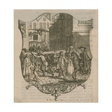A Scene from London, Dated 1720 Giclee Print by Bernard Picart