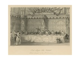 Lord Mayor's Table, Guildhall Giclee Print by Thomas Hosmer Shepherd