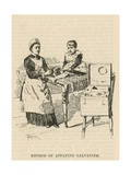 The West End Hospital for Paralysis and Epilepsy, Welbeck Street, London: Method for Applying… Giclee Print by Amedee Forestier