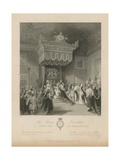 The Throne Investiture of a Knight of the Garter Giclee Print by Jacob Van Der Heyden