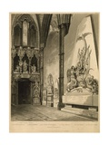 North Transept of Westminster Abbey Giclee Print by Augustus Charles Pugin