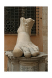 Constantine I, the Great (272-337). Roman Emperor. Foot of Constantine's Colossal Statue at the… Giclee Print