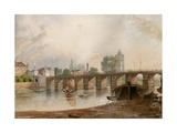 Old Battersea Bridge Giclée-Druck von John Varley