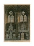 Fourth and Fifth Window, South Aisle, Westminster Abbey, London Giclee Print by Augustus Charles Pugin