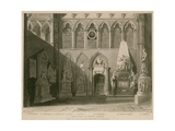 South View of Poets Corner, Westminster Abbey, London Giclee Print by  A.C. Pugin and H. Villiers