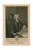 Johannes Strype Ma, Philalethes and Philarchaeus Giclee Print by George Vertue