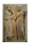 Funerary Stele of Hieron and Lysippe. Greece. IV Century B.C. Giclee Print