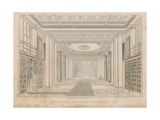 Interior of the King's Library, British Museum Giclee Print by Henry Shaw