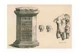 A Pedestal and Fragment of the Statue of Hercules of Roman Workmanship Giclee Print by Thomas Fisher Hoxton