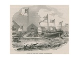 Launch of the Ariel Steamer at Rotherhithe Giclee Print