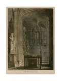 East End of South Aisle, Westminster Abbey, London Giclee Print by Frederick Mackenzie