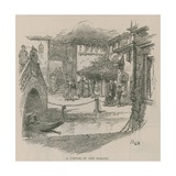 Venice in London: Sketches at Olympia - a Corner of the Market Giclee Print