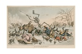 On Frail Ice, the Whirring Skate, Becomes an Instrument of Fate Giclee Print by Thomas Rowlandson