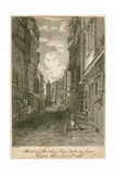 Sketch of Butcher Row, Looking from Temple Bar, 9 June 1796 Giclee Print by Edward Dayes