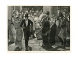 After the Play - under the Lyceum Portico Giclee Print